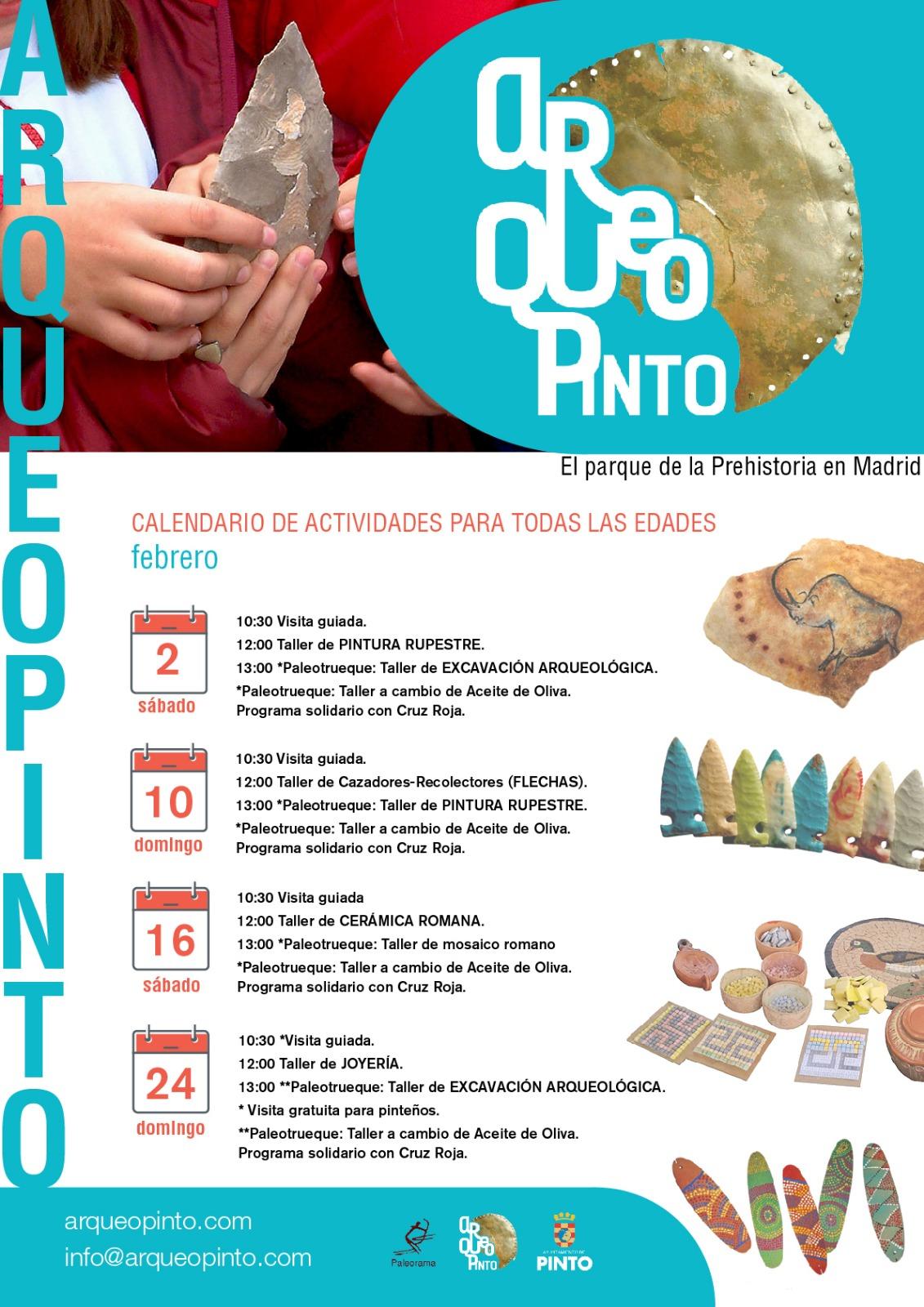 Actividades Arqueopinto Febrero 2019