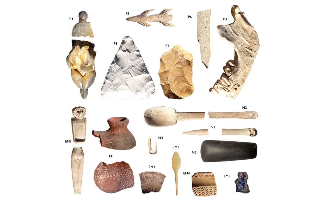 excavación arqueológica simulada en el colegio museo